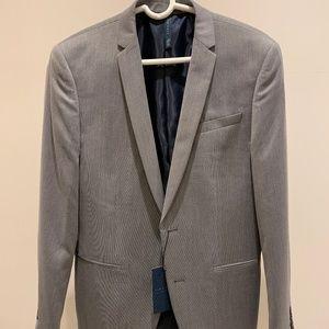 Zara Gray Textured Weave Suit